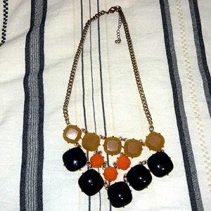 Orange black and nude necklace